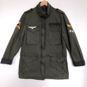 Levis four pocket military army utility jacket
